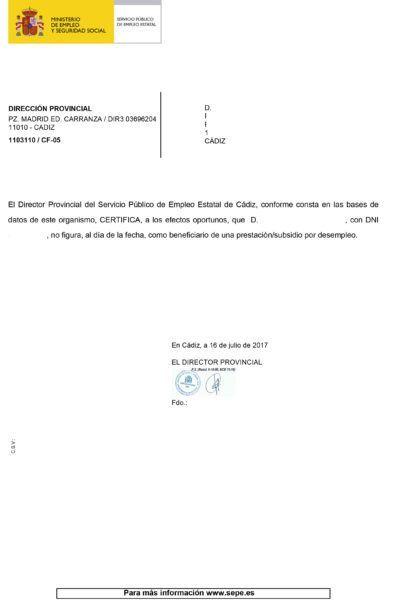C mo solicitar el certificado de situaci n empleojob for Sellar paro por internet andalucia certificado digital
