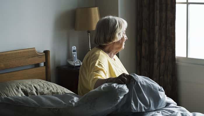 Anciana en la cama