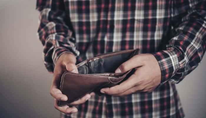 cartera sin dinero
