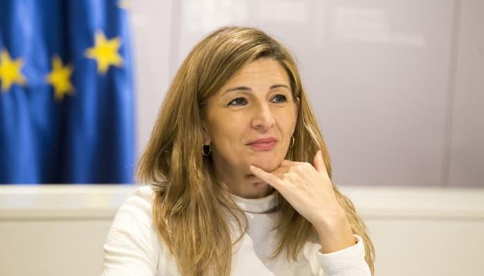 Ministra de Trabajo, Yolanda Díaz
