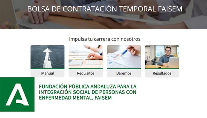Abierta la Bolsa de Empleo para varios puestos de la Fundación Andaluza FAISEM