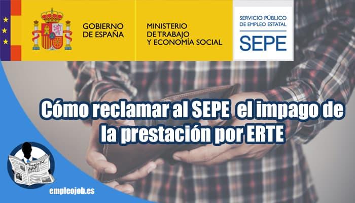 Como reclamar el impago de la prestación por desempleo por ERTE