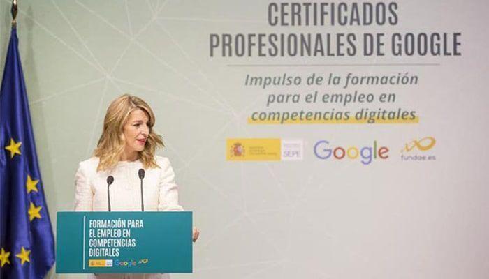 Yolanda Díaz presentación cursos Google