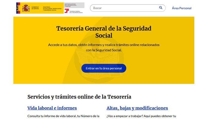portal import@ss de la seguridad social