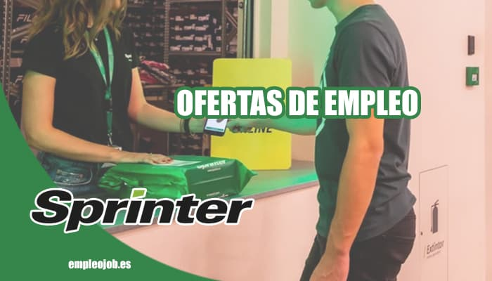 Sprinter publica nuevas ofertas de trabajo para agosto