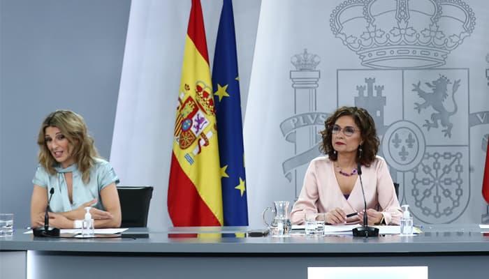 Ministras Yolanda Díaz y María Jesús Montero