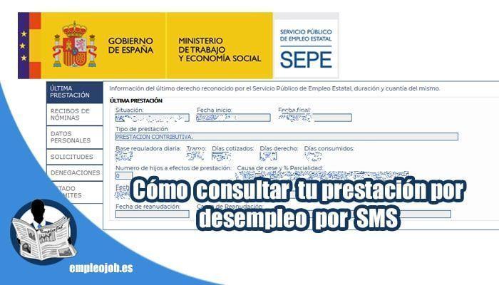 Cómo consultar tu prestación por desempleo del SEPE por SMS