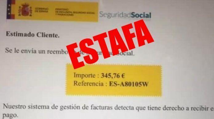 Estafa falso reembolso de la Seguridad Social