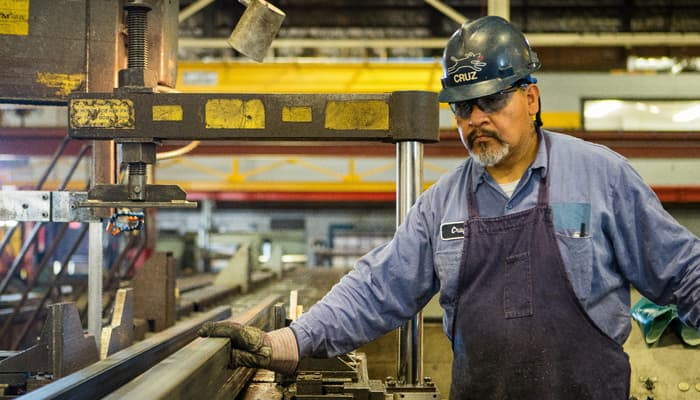 Trabajdor del sector del metal