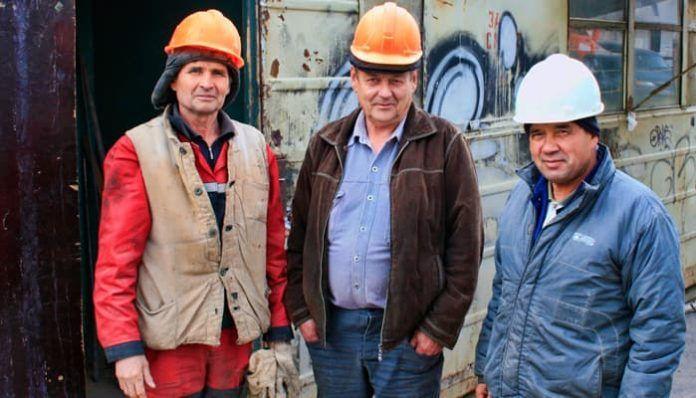Trabajadores mayores de la construcción