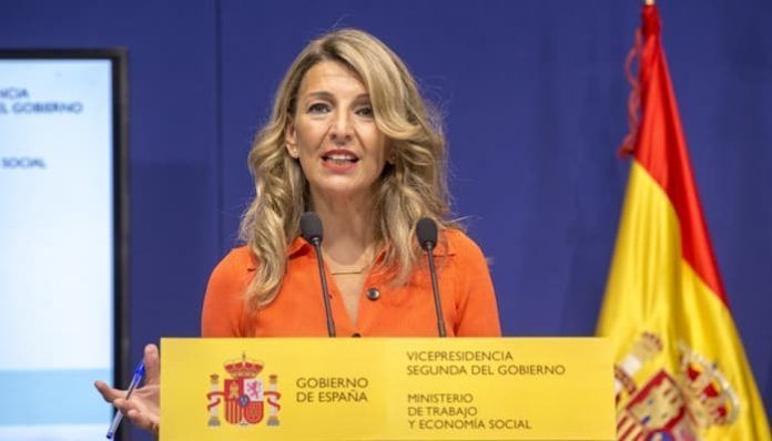 Yolanda Díaz presentando su plan de Inspección de Trabajo