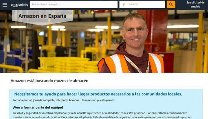 Empleo de mozo de almacén en Amazon
