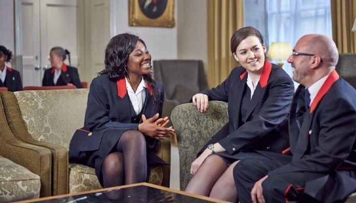 Trabajadores de la Real Casa Británica